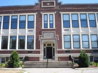 Front of Hollis School