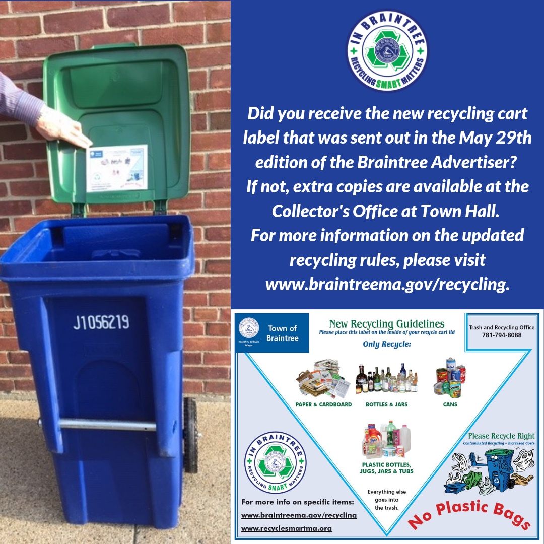 May 29th Braintree Advertiser recycling label announcement