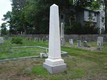 White Tombstone at Elm Street Cemetery