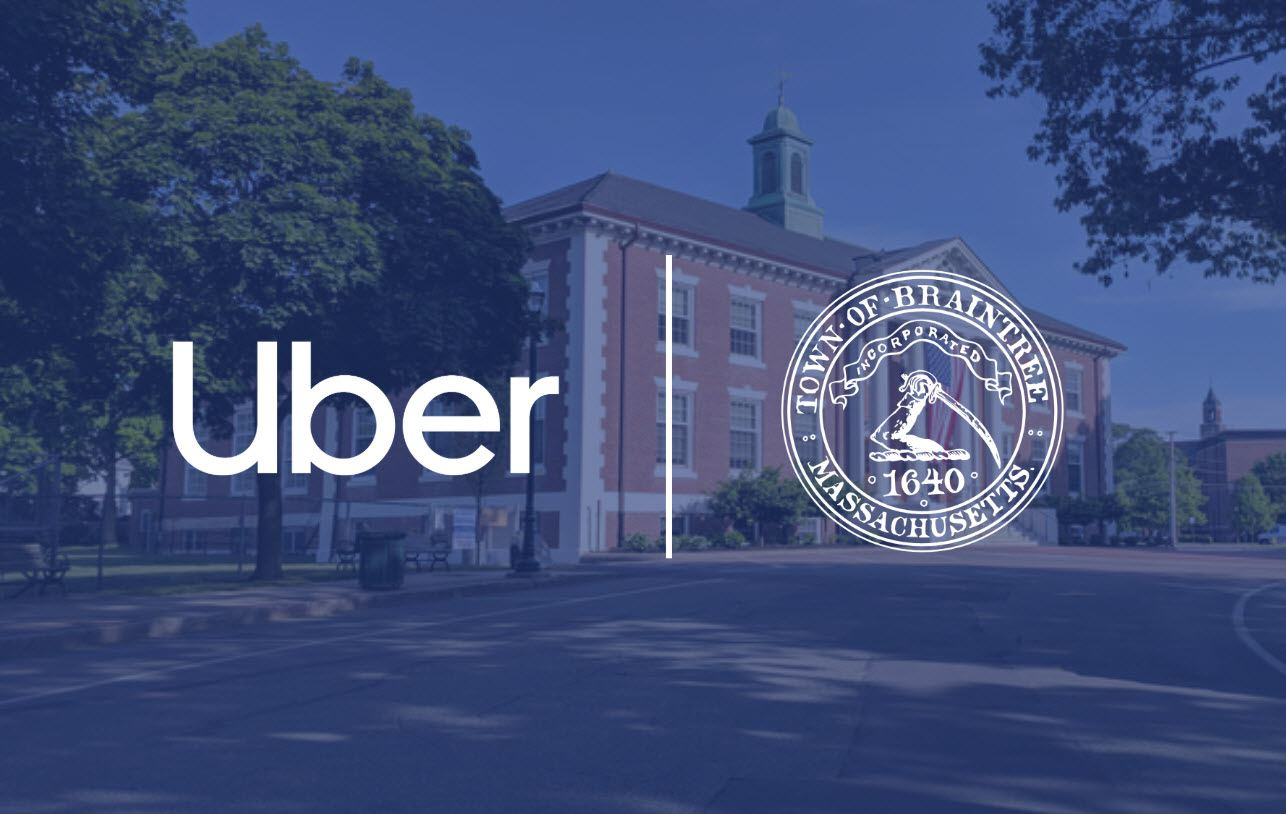 Uber Logo with Town of Braintree Seal