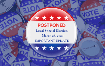 Town Web - News Image Election Postponed