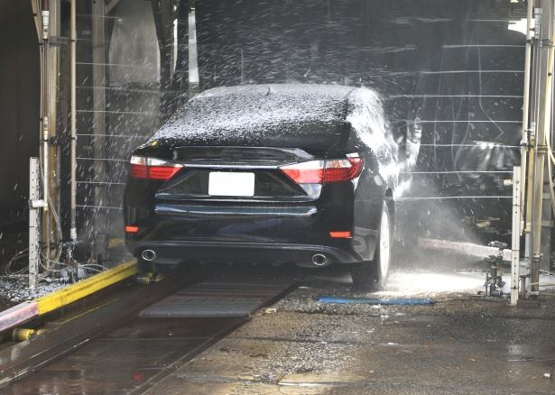 Car at a car wash