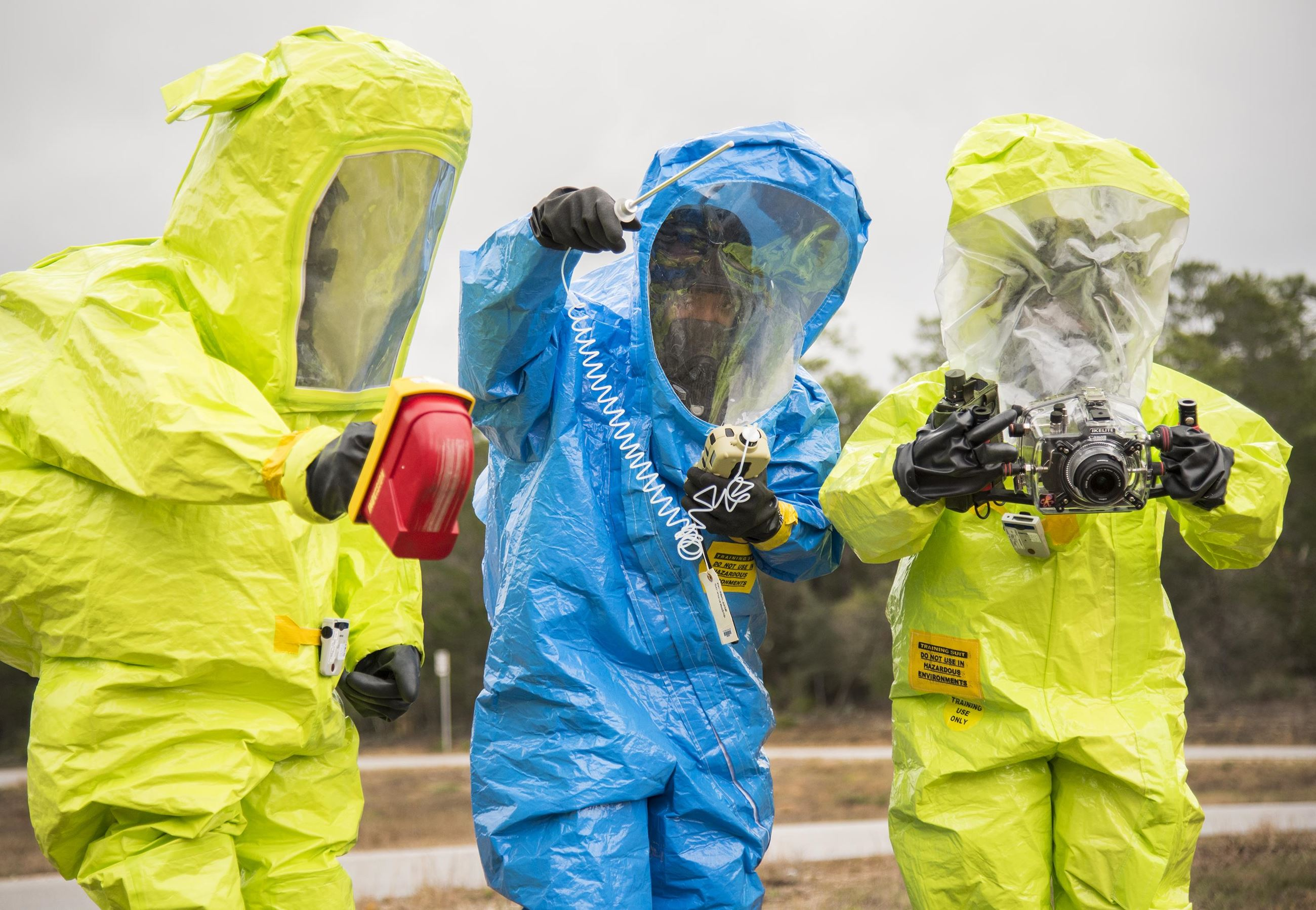 People in HazMat suits